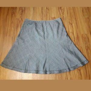 🦋 Cynthia Steffe A-line Flare Skirt Frayed Hem